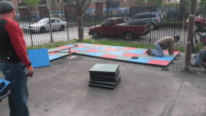 Installation of Playground Rubber Tiles