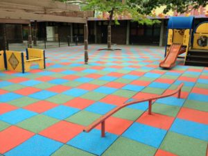 Playground Rubber Mat Installed