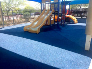 Poured Rubber Playground Installation at a Daycare in Arizona