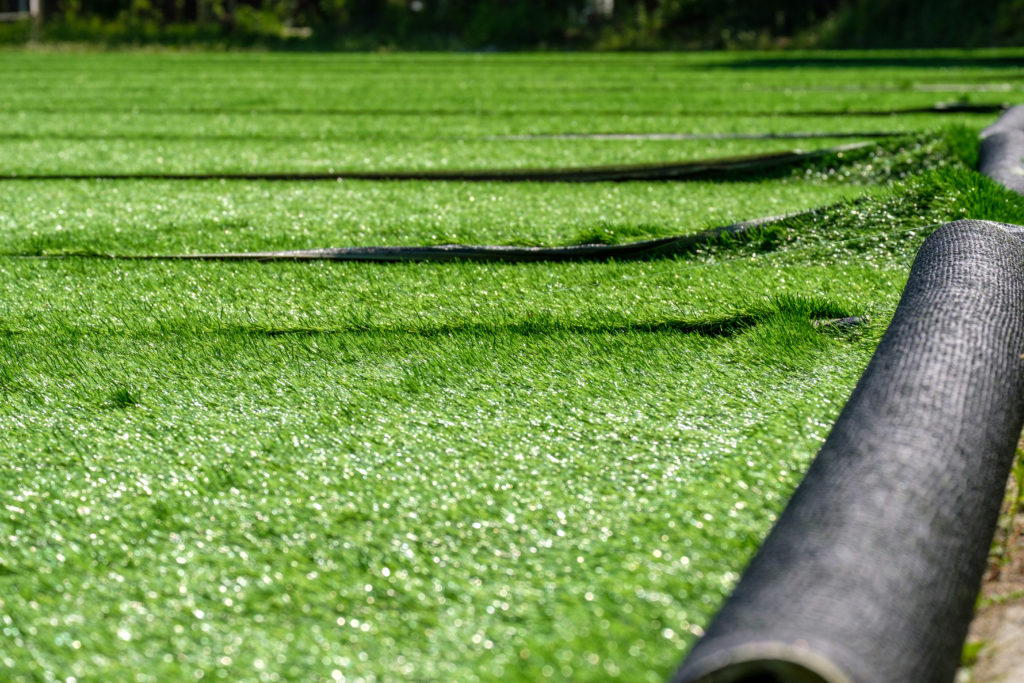 Artificial Turf Playground Surface Installation