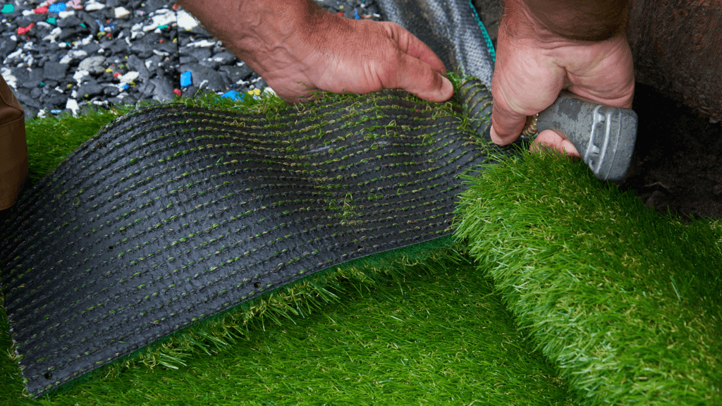 Installing Artificial Grass for Playground