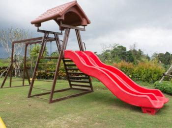 Natural Grass Playground Soil Surface