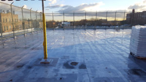 Prior to Installing a Rubber Tile Playground Surface on a Building in New York City | adventureTURF Playground Surfacing Company