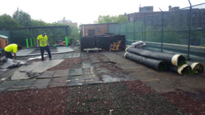 Remove Rubber Playround Tiles for Replacement at a Daycare in Brooklyn NY | adventureTURF