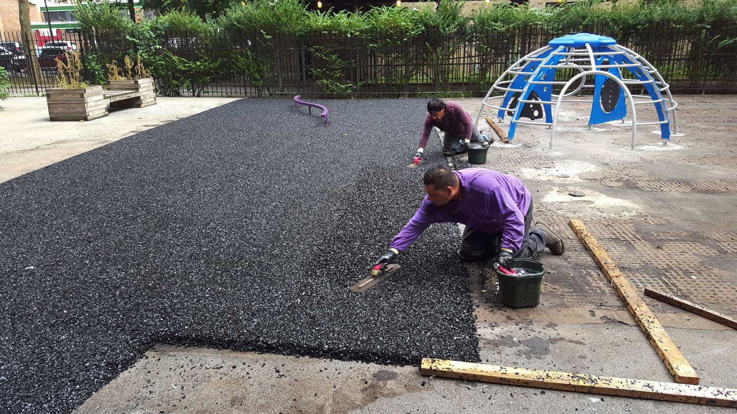 Replace Rubber Tiles with Poured Rubber Playground Floor | adventureTURF