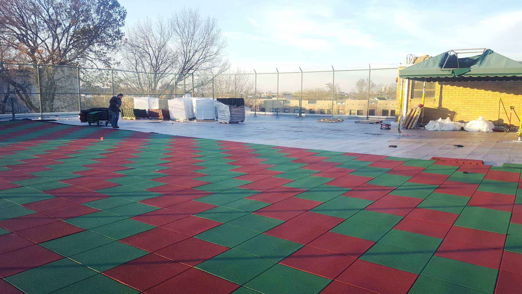 Rooftop Rubber Mat Playground Safety Surface Installers   adventureTURF   New York City