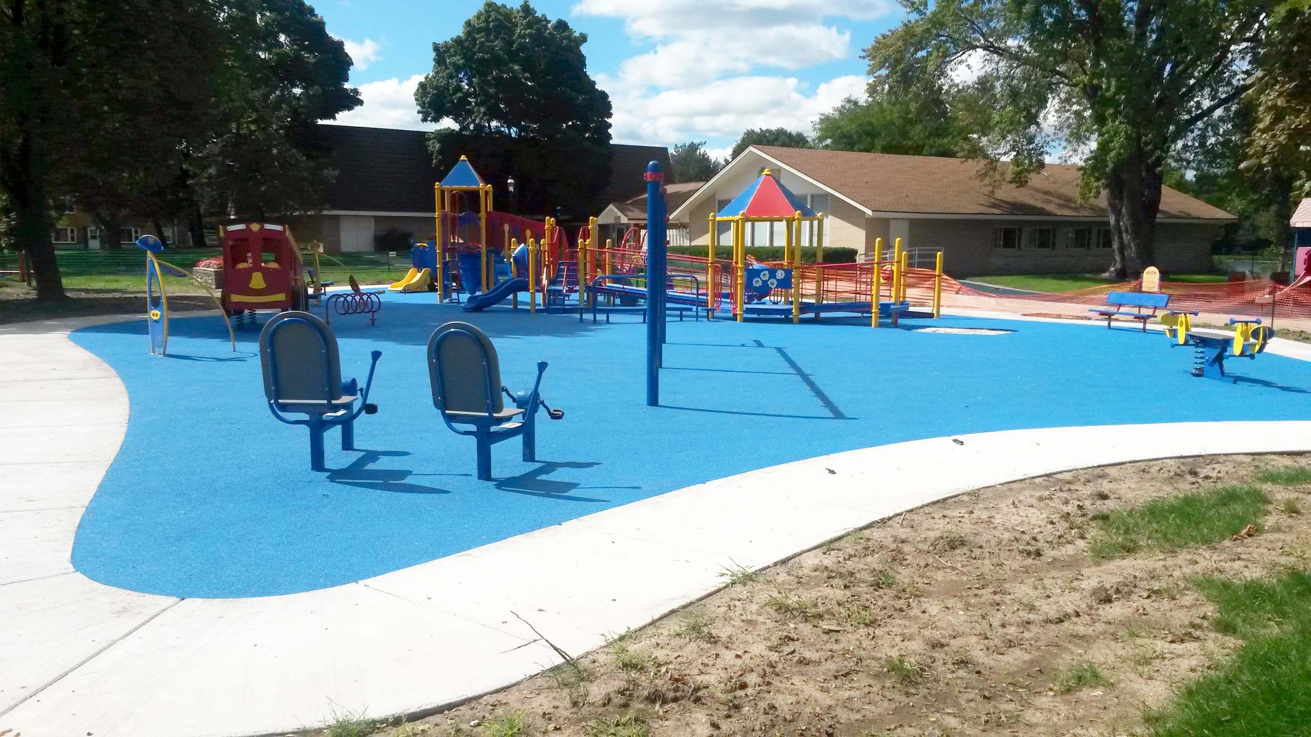 Playground Safety Flooring   Poured in Place Rubber Surface Installer   adventureTURF
