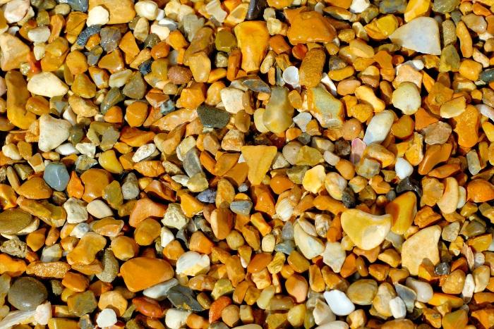 pea gravel close up image