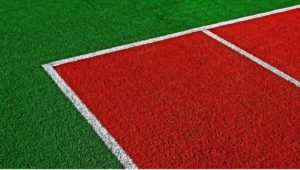 synthetic turf on playground field